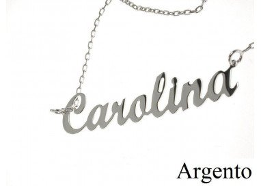 Name Necklace SILVER White
