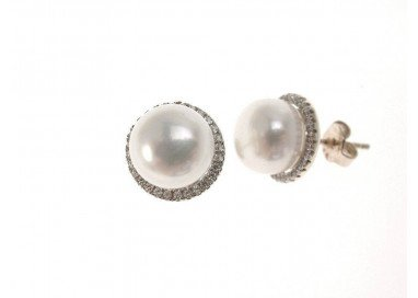 Earring Pearl and cubic...