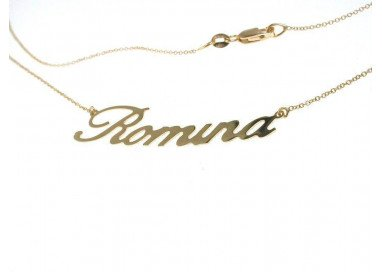 Name Necklace White Gold...