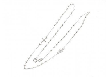 Rosario White Necklace