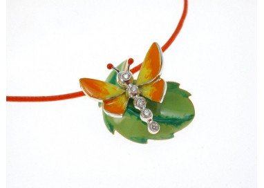 Pendant Orange Butterfly on...