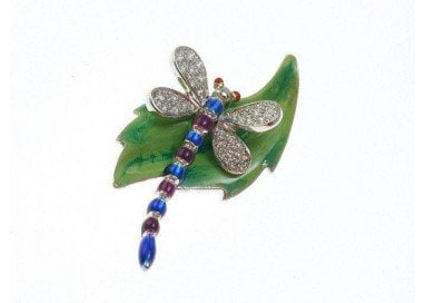 Dragonfly on leaf Pendant