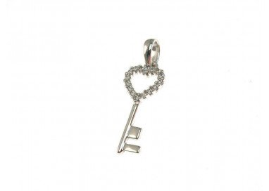 Key of the Heart charm in...