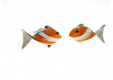 Earrings Fish Orange