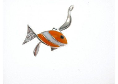 Orange Fish Pendant