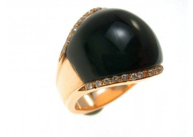 Onyx Dome Ring