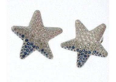 Earrings Star Sapphires