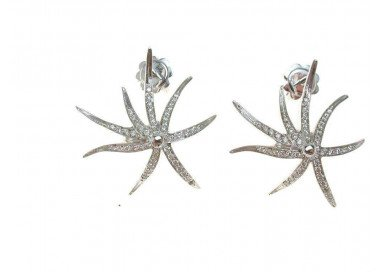 Starfish Earrings White gold