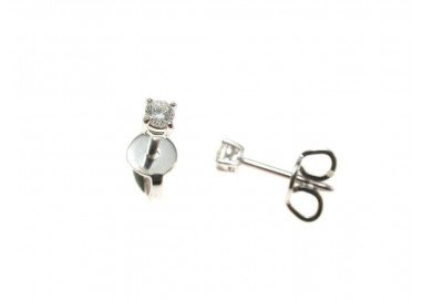 Solitaire earrings 0.092 ct