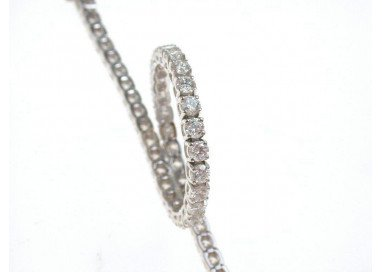 Large White Tennis Bracelet